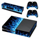 Blue fire flame skin decal for Xbox one console and controllers