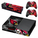 Arizona Cardinals skin decal for Xbox one console and controllers