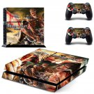 Attack on Titan 2 decal for PS4 PlayStation 4 console and 2 controllers