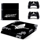 Sword Art Online decal for PS4 PlayStation 4 console and 2 controllers