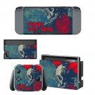 Punks not dead Nintendo switch console sticker skin