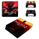 Attack on Titan 2 ps4 pro skin decal for console and controllers