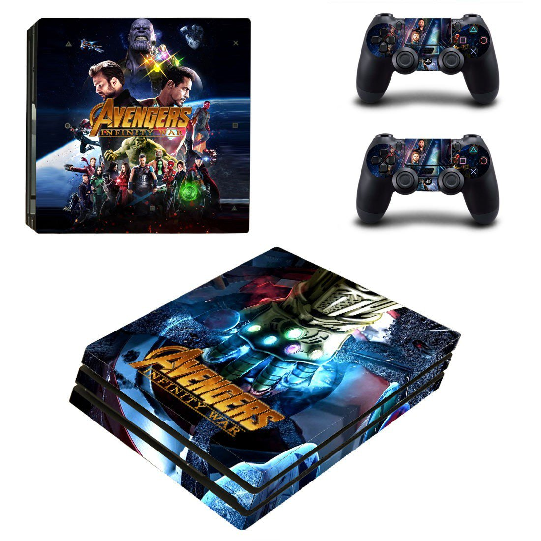 Avengers infinity war ps4 pro skin decal for console and controllers