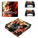Attack on Titan 2  ps4 slim skin decal for console and controllers