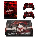 Kurumi tokisaki skin decal for Xbox one X console and controllers