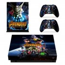 Avengers infinity war skin decal for Xbox one X console and controllers