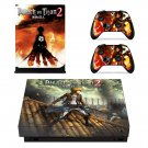 Attack on Titan 2 skin decal for Xbox one X console and controllers
