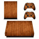 Wooden Board skin decal for Xbox one X console and controllers