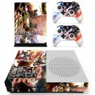 Attack on Titan 2 skin decal for Xbox one S console and controllers