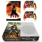 Attack on Titan 2skin decal for Xbox one S console and controllers