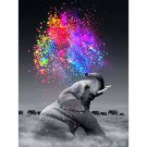 Elephant spread colors Diamond Painting DIY kit Canvas Painting Wall Art Mosaic Painting