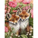 foxes couple Diamond Painting DIY kit Canvas Painting Wall Art Mosaic Painting