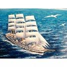 fregates Diamond Painting DIY kit Canvas Painting Wall Art Mosaic Painting