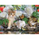 kittens and butterflies Diamond Painting DIY kit Canvas Painting Wall Art Mosaic Painting