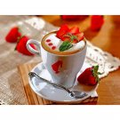 coffee and strowberry Diamond Painting DIY kit Canvas Painting Wall Art Mosaic Painting
