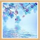 blue flowers Diamond Painting DIY kit Canvas Painting Wall Art Mosaic Painting