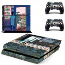 Street Fighter skin decal for PS4 PlayStation 4 console and 2 controllers