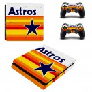Houston Astros ps4 slim skin decal for console and controllers
