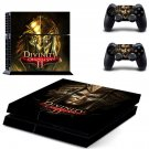 Divinity Original Sin 2 skin decal for PS4 PlayStation 4 console and 2 controllers
