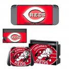Cincinnati Reds Nintendo switch console sticker skin