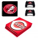 Cincinnati Reds ps4 pro skin decal for console and controllers