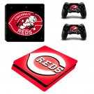 Cincinnati Reds ps4 slim skin decal for console and controllers