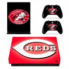 Cincinnati Reds skin decal for Xbox one X console and controllers
