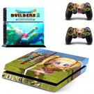 Dragon Quest Builders skin decal for PS4 PlayStation 4 console and 2 controllers