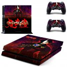 Onimusha skin decal for PS4 PlayStation 4 console and 2 controllers