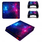 Galaxy Scene ps4 slim skin decal for console and controllers