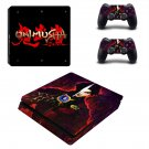 Onimusha ps4 slim skin decal for console and controllers