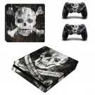 Skull Danger ps4 slim skin decal for console and controllers
