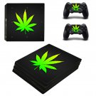 Cannabis leaf ps4 pro skin decal for console and controllers