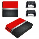 Metal floor ps4 pro skin decal for console and controllers