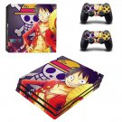 OnePiece ps4 pro skin decal for console and controllers