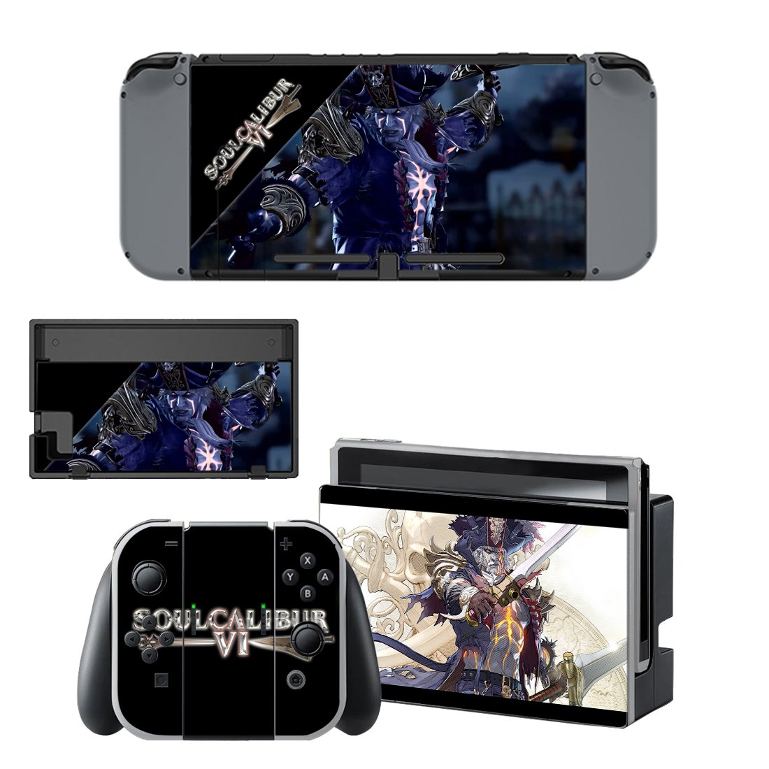 Soulcalibur 6 Nintendo switch console sticker skin