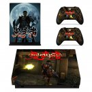 Onimusha skin decal for Xbox one X console and controllers