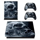 Smoky Skull skin decal for Xbox one X console and controllers