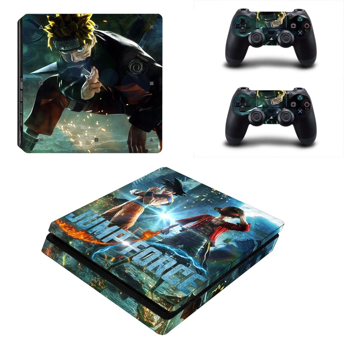 Jump Force ps4 slim skin decal for console and controllers