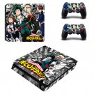 My Hero Academia ps4 slim skin decal for console and controllers