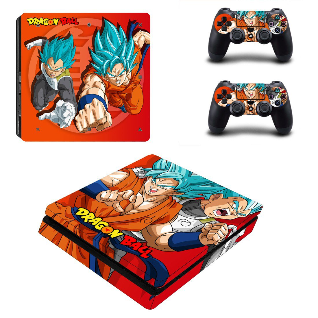 Dragon Ball ps4 slim skin decal for console and controllers