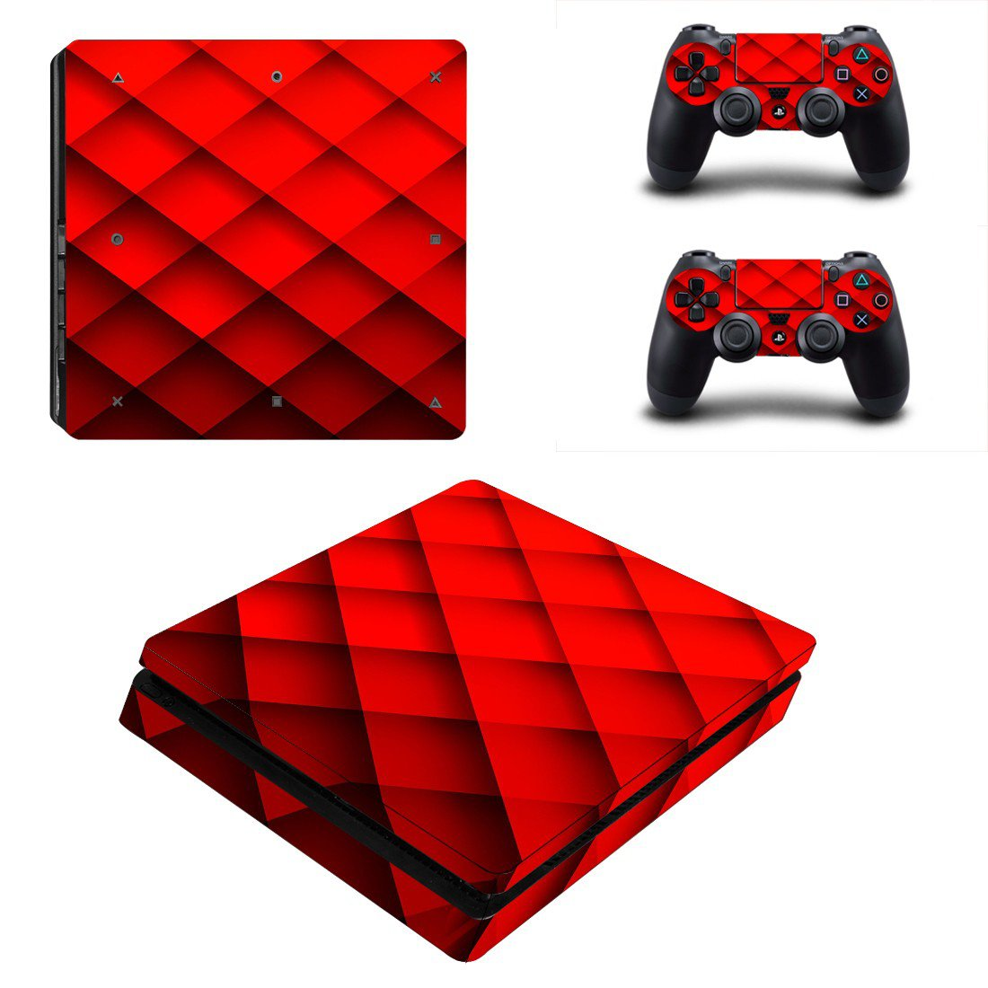 Abstraction ps4 slim skin decal for console and controllers
