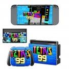 Tetris 99 Nintendo switch console sticker skin