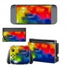 Colorful Sky Nintendo switch console sticker skin