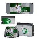 Saudi Arabian Football Federation Nintendo switch console sticker skin