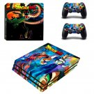 Dragon Ball ps4 pro skin decal for console and controllers
