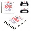 Happy Love Day ps4 pro skin decal for console and controllers