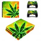 Cannabis Plant ps4 pro skin decal for console and controllers