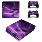 Thunder lightings ps4 pro skin decal for console and controllers
