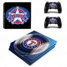 Texas Rangers ps4 pro skin decal for console and controllers